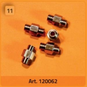 Doppelnippel 10-32 (M5) (5 Stück) - 120062