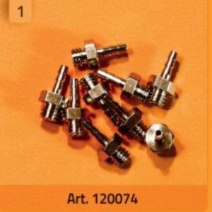 Anschlussnippel 10-32 (M5) für Schlauch 1,8 mm ID (10 Stück) - 120074