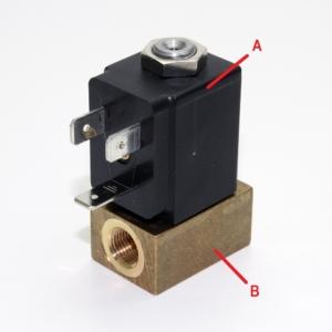 2/2 Wege Magnetventil N/C ohne Spule