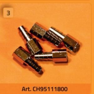 Anschlussnippel 10-32 Innengewinde, für Schlauch 4,0 mm ID (5 Stück) - CH95111800